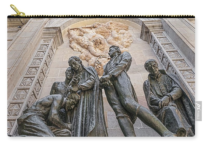 Apostle Carry-all Pouch featuring the photograph Statues by Maria Coulson