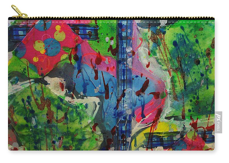 Abstract Carry-all Pouch featuring the painting Stay Cool by Yael VanGruber
