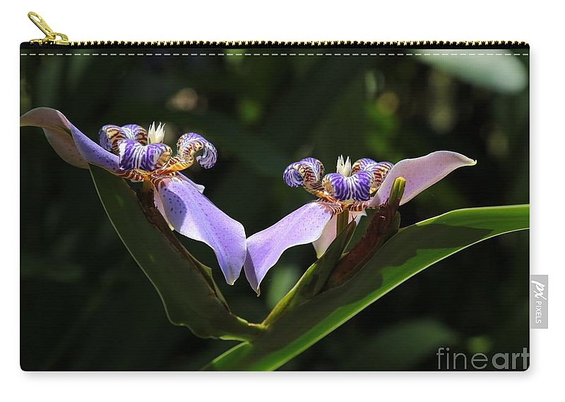 Iris Carry-all Pouch featuring the photograph Staying Connected by Carol Groenen