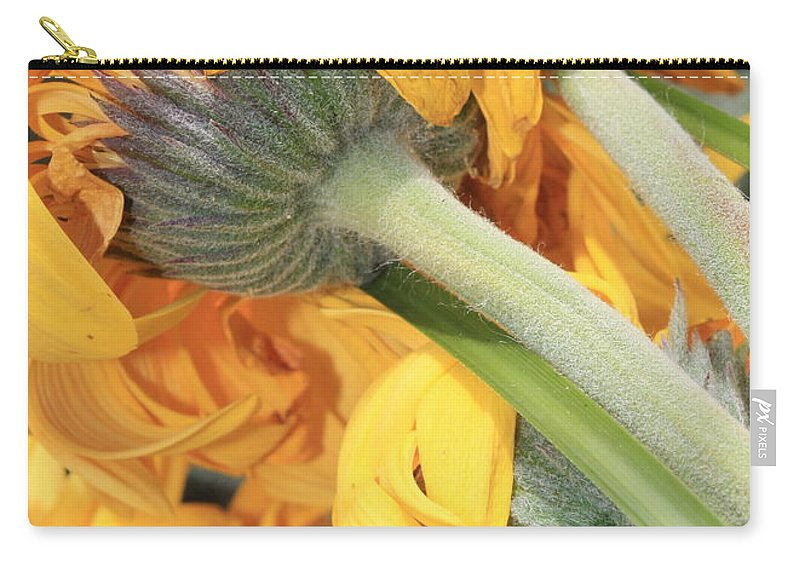 Yellow Carry-all Pouch featuring the photograph Staying Strong by Carol Groenen