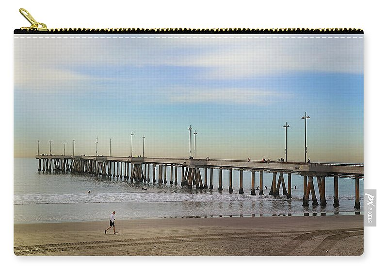 Venice Beach Pier Carry-all Pouch featuring the photograph Staying The Course by Fraida Gutovich
