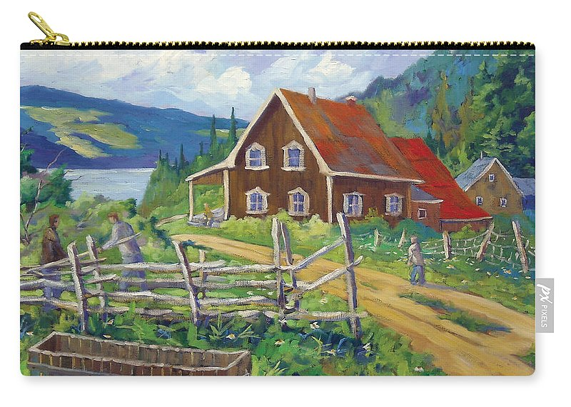Art Carry-all Pouch featuring the painting Ste-rose Du Nord by Richard T Pranke