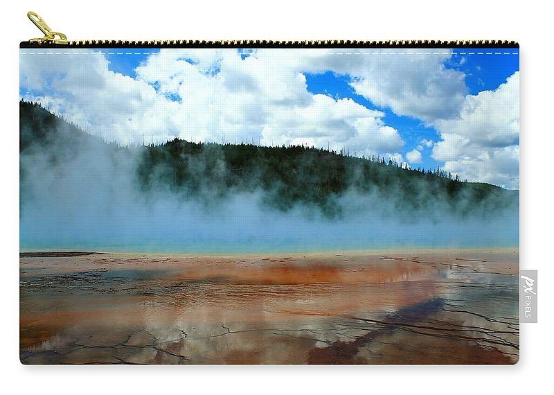 Yellowstone National Park Carry-all Pouch featuring the photograph Steam Bath by Catie Canetti