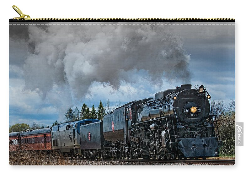 Steam Carry-all Pouch featuring the photograph Steam Engine 261 by Paul Freidlund