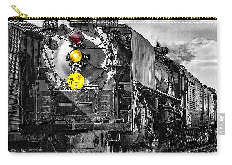 Steam Locomotive Carry-all Pouch featuring the photograph Steam Engine 844 by Diana Powell