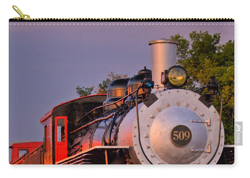 Steam Carry-all Pouch featuring the photograph Steam Engine Number 509 by Douglas Barnett