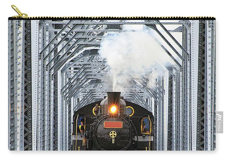 Air Pollution Carry-all Pouch featuring the photograph Steam Train by Peter Hong