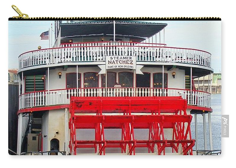Steamboat Carry-all Pouch featuring the photograph Steamboat Natchez by Ed Weidman