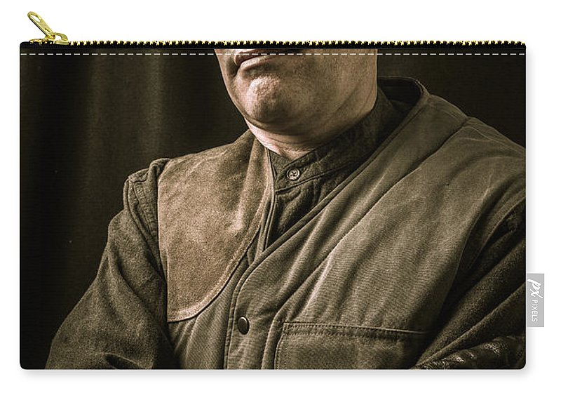 Vest Carry-all Pouch featuring the photograph Steampunk Airship Captain by Edward Fielding