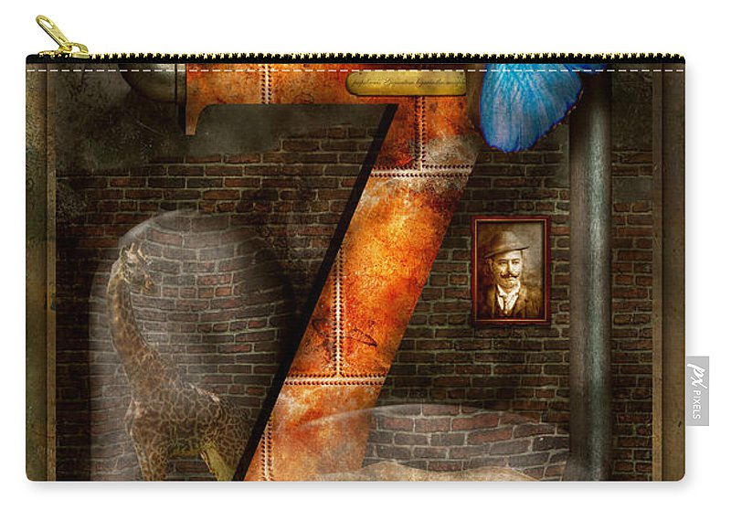 Self Carry-all Pouch featuring the photograph Steampunk - Alphabet - Z Is For Zoology by Mike Savad