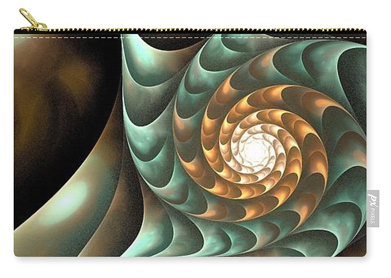 Steampunk Carry-all Pouch featuring the digital art Steampunk Mood by Anastasiya Malakhova