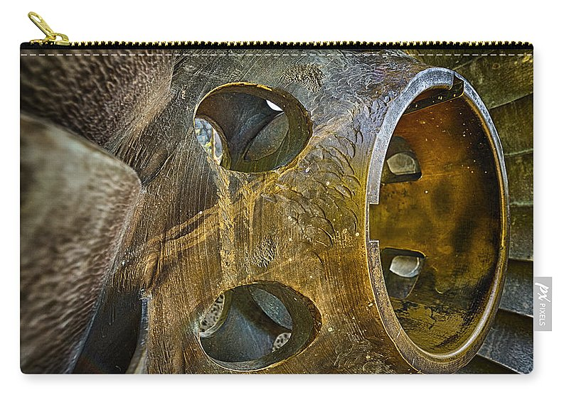 Steampunk Carry-all Pouch featuring the photograph Steampunk Turbine by Scott Campbell