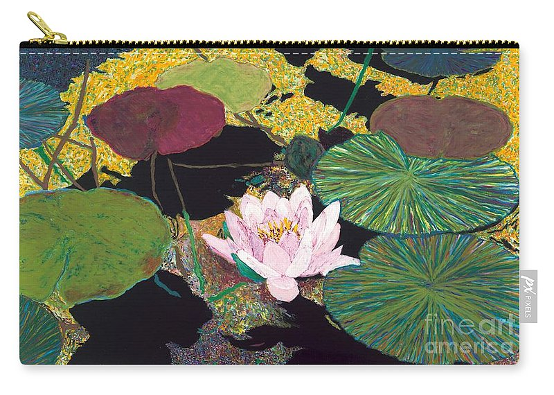 Landscape Carry-all Pouch featuring the painting Steamy Pond by Allan P Friedlander