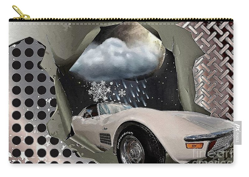 Steel Frame Stingray Carry-all Pouch featuring the digital art Steel Frame Stingray by Liane Wright