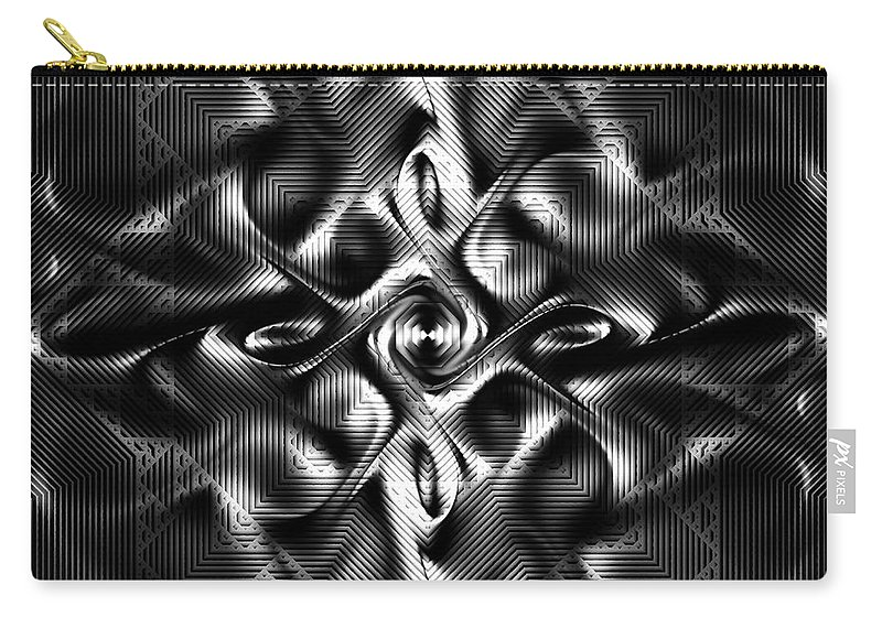 Steel Magnolia Carry-all Pouch featuring the digital art Steel Magnolia by Kiki Art