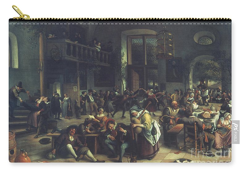 1674 Carry-all Pouch featuring the photograph Steen: Merrymaking, 1674 by Granger