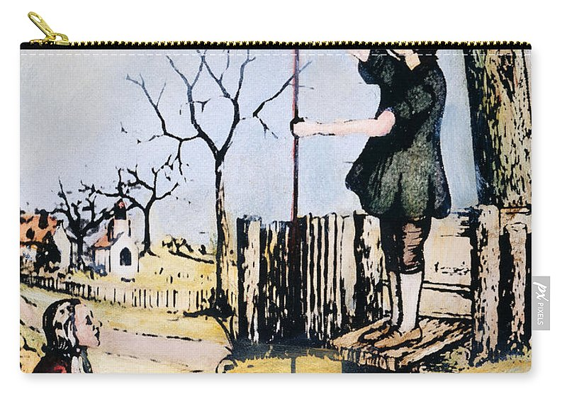 18th Century Carry-all Pouch featuring the photograph Stephen Hales (1677-1761) by Granger