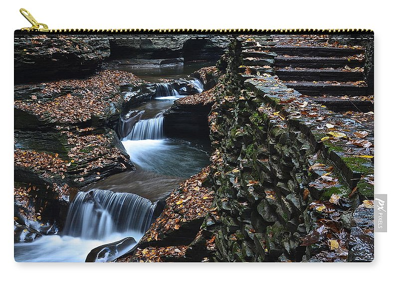 Steps Carry-all Pouch featuring the photograph Steps by Frozen in Time Fine Art Photography