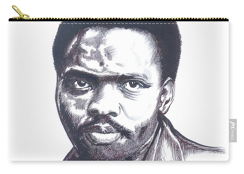 Portraits Carry-all Pouch featuring the painting Steve Biko 02 by Emmanuel Baliyanga