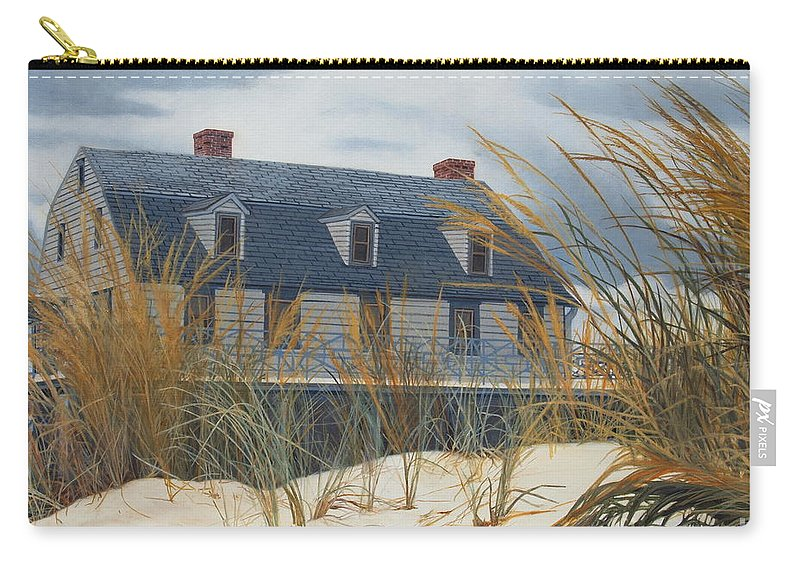 Hall-mills Murder Carry-all Pouch featuring the painting Stevens House by Barbara Barber