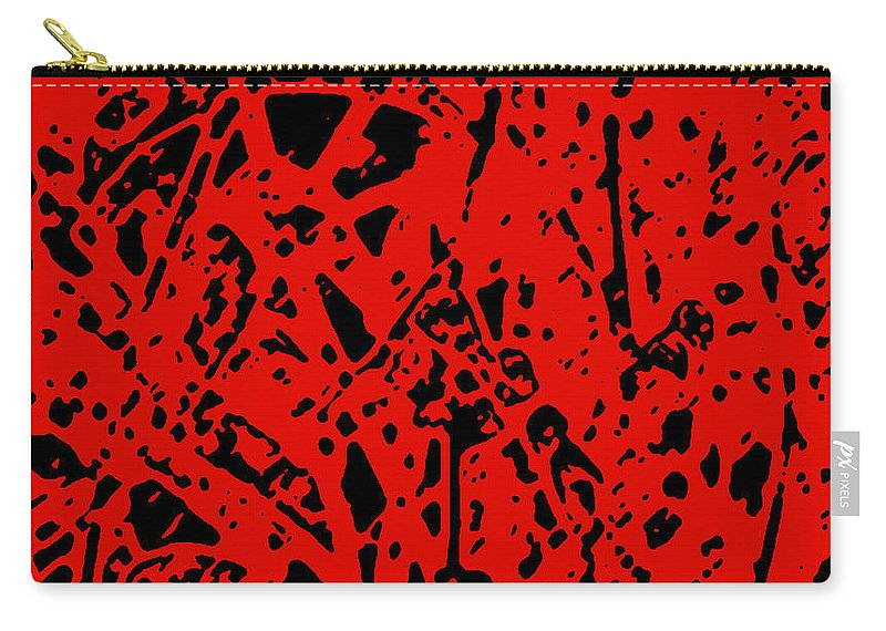 Abstract Carry-all Pouch featuring the digital art Sticks And Stones by James Temple