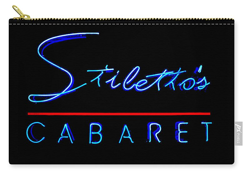 the Big Easy Carry-all Pouch featuring the photograph Stiletto's Cabaret by Sennie Pierson