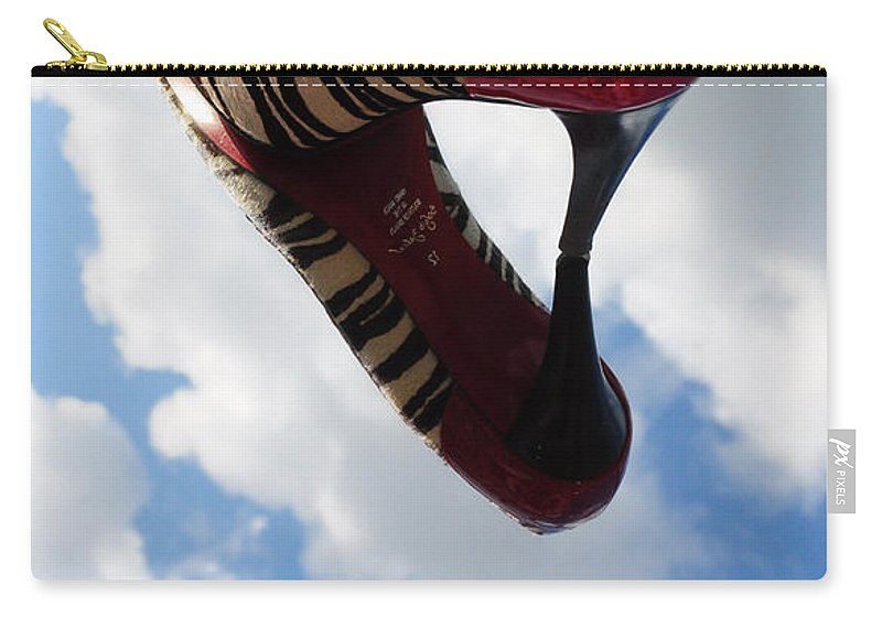 Wright Carry-all Pouch featuring the photograph Stilettos Gone Zebra by Paulette B Wright