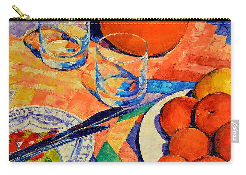 Still Life Carry-all Pouch featuring the painting Still Life 1 by Iliyan Bozhanov