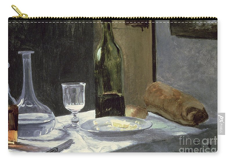 Impressionist Carry-all Pouch featuring the painting Still Life With Bottles by Claude Monet