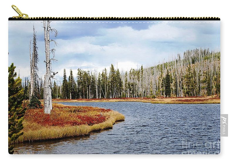 Yellowstone Carry-all Pouch featuring the photograph Still Standing by Deanna Cagle