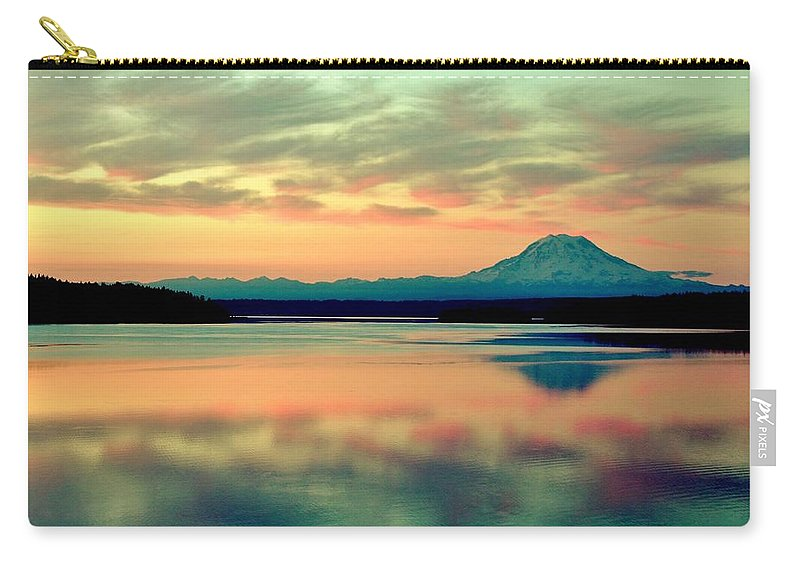 Gig Harbor Carry-all Pouch featuring the photograph Stillness by Benjamin Yeager