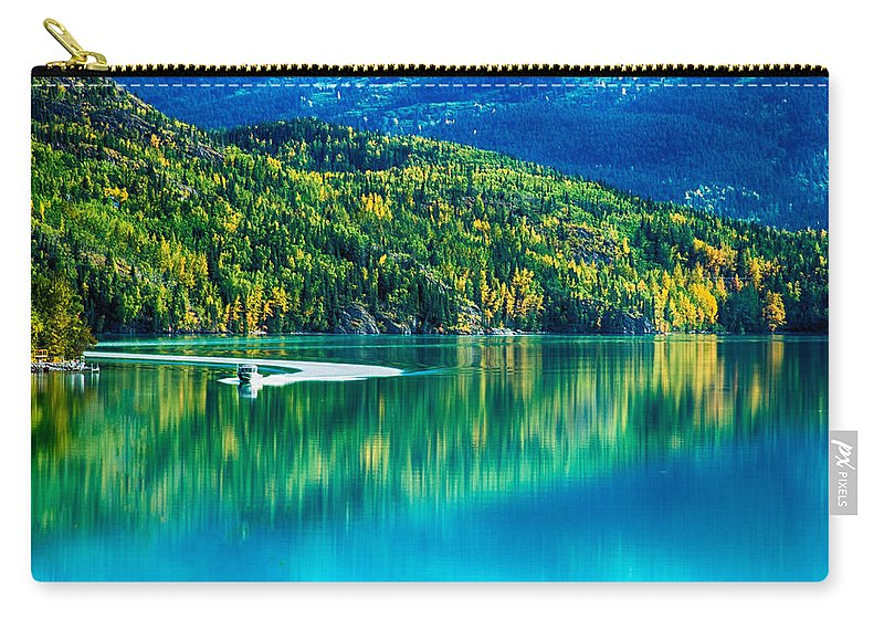 Images Of Nature Photography Carry-all Pouch featuring the photograph Stillness On The Kenai by Jeff Folger