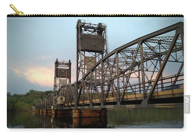 Lift Bridge Carry-all Pouch featuring the photograph Stillwater Lift Bridge by Tim Nyberg
