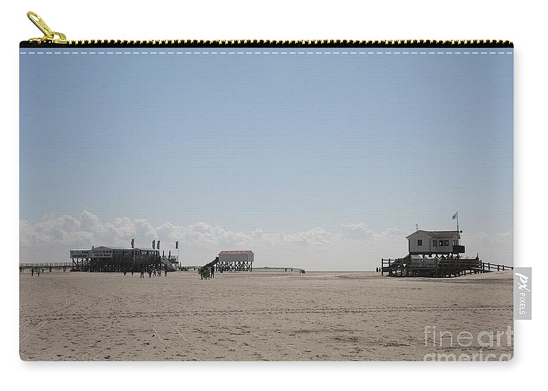 Beach Carry-all Pouch featuring the photograph Stilt Houses - North Sea - Germany by Christiane Schulze Art And Photography
