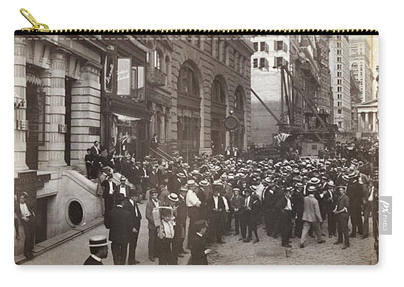 1902 Carry-all Pouch featuring the photograph Stock Brokers, C1902 by Granger