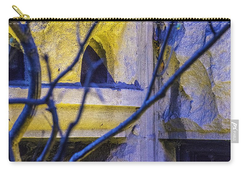 Carry-all Pouch featuring the photograph Stone Abstract One by Raymond Kunst