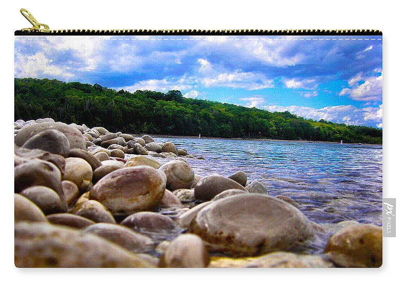 Beach Carry-all Pouch featuring the photograph Stone Beach by Zafer Gurel
