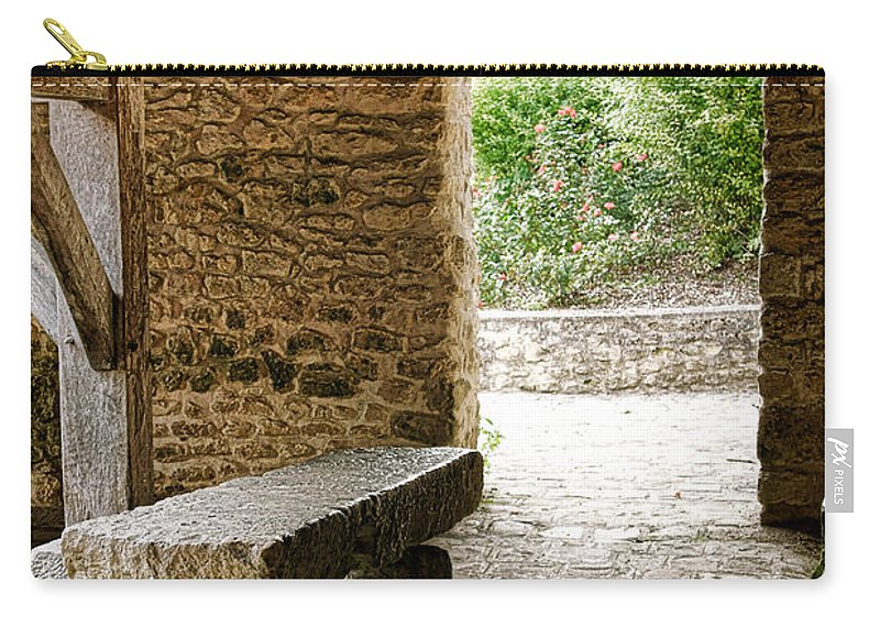 France Carry-all Pouch featuring the photograph Stone Bench by Olivier Le Queinec