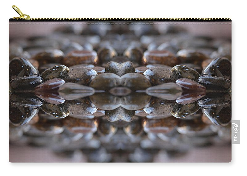 Stones Framed Prints Carry-all Pouch featuring the photograph Stone Crossing 2 by Deprise Brescia