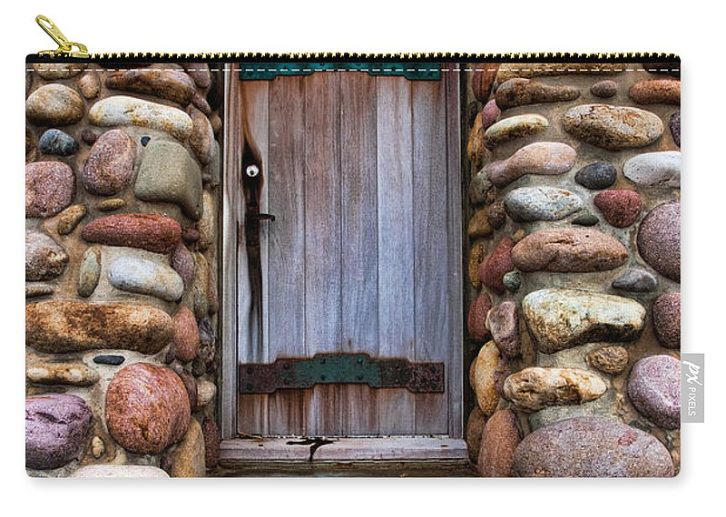 Architecture Carry-all Pouch featuring the photograph Stone Door by Peter Tellone
