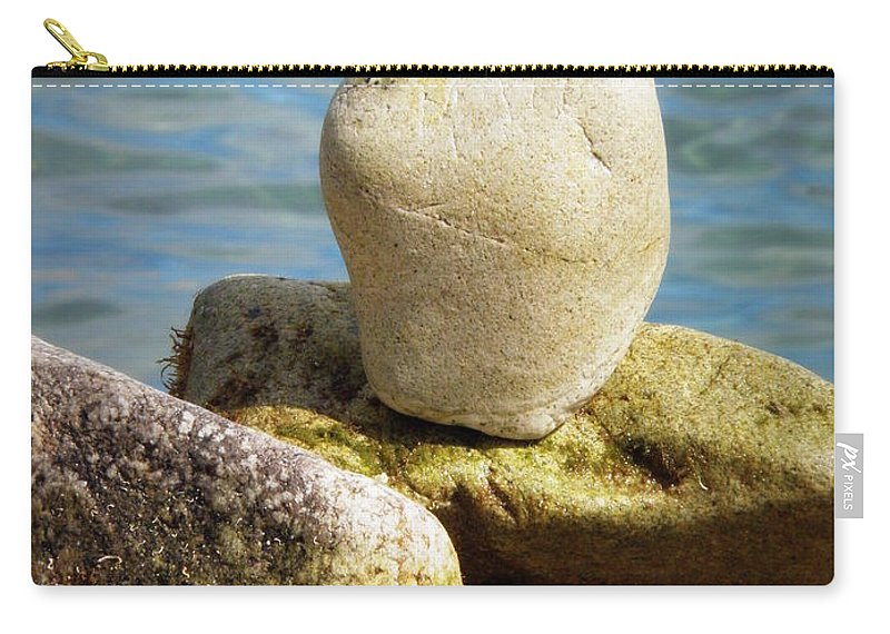 Heart Carry-all Pouch featuring the photograph Stone Heart by Lainie Wrightson