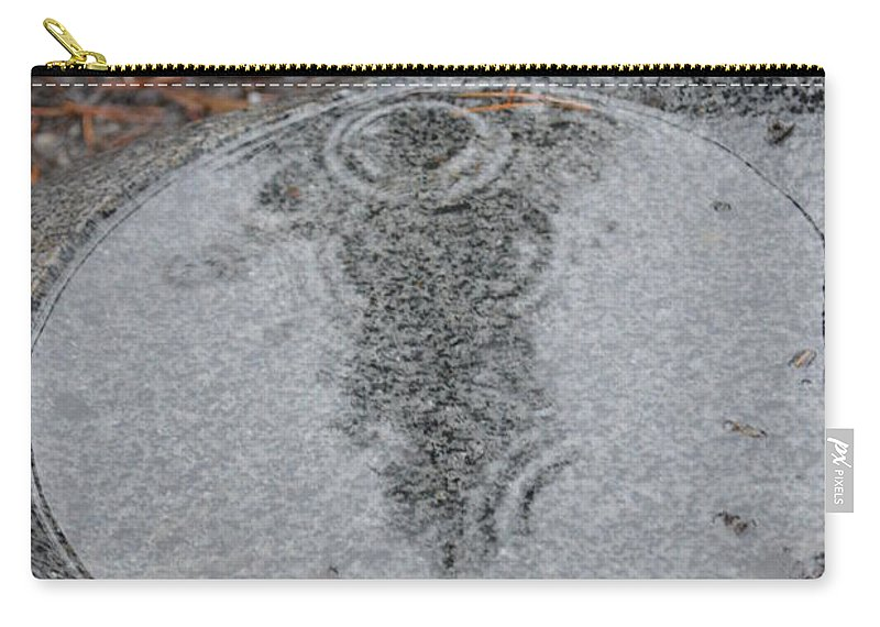 Stone Carry-all Pouch featuring the photograph Stone Pool Angel by Brian Boyle