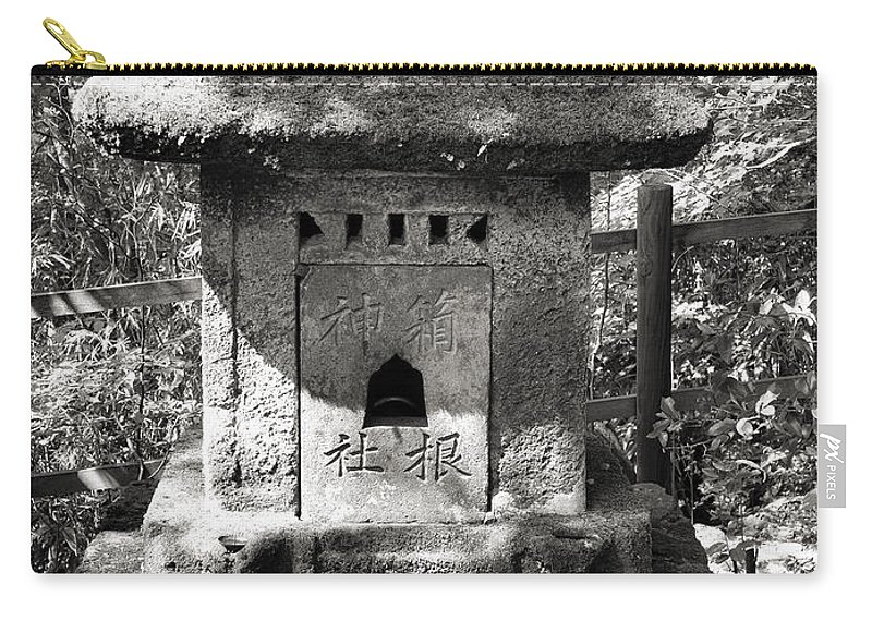 Shrine Carry-all Pouch featuring the photograph Stone Shrine by For Ninety One Days