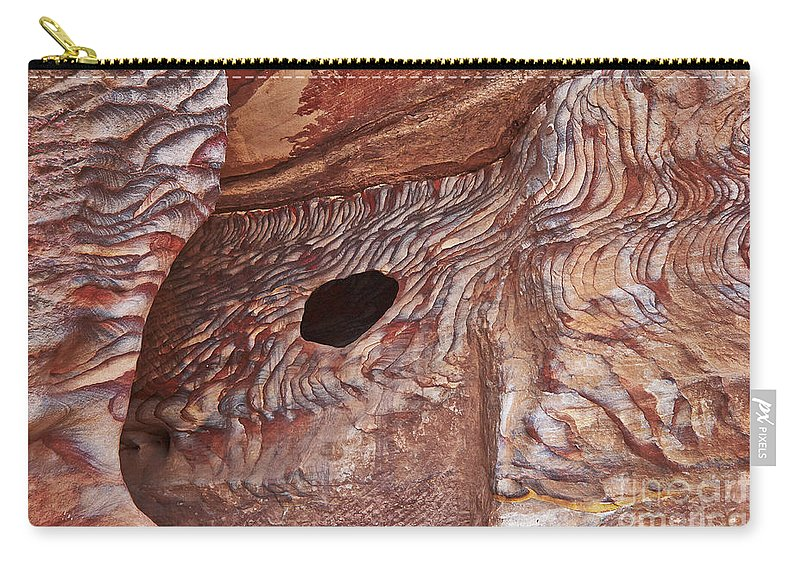 Jordan Carry-all Pouch featuring the photograph Stone Structures by Juergen Ritterbach