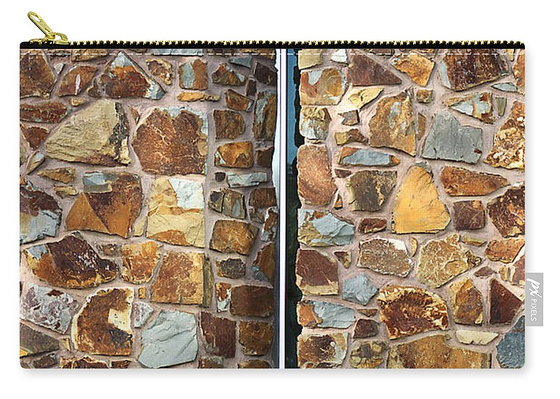 Bubbleblue Carry-all Pouch featuring the photograph Stone Wall-small Window by Joy Watson