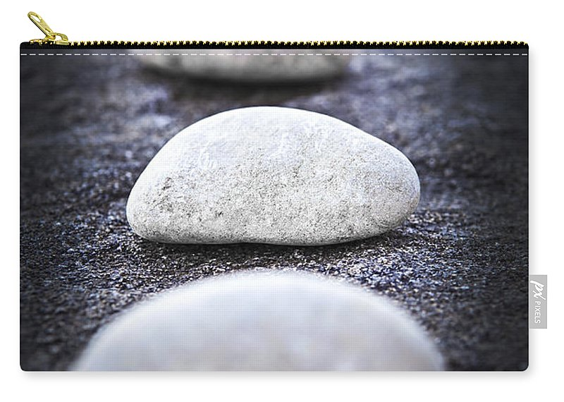 Stone Carry-all Pouch featuring the photograph Stones by Elena Elisseeva