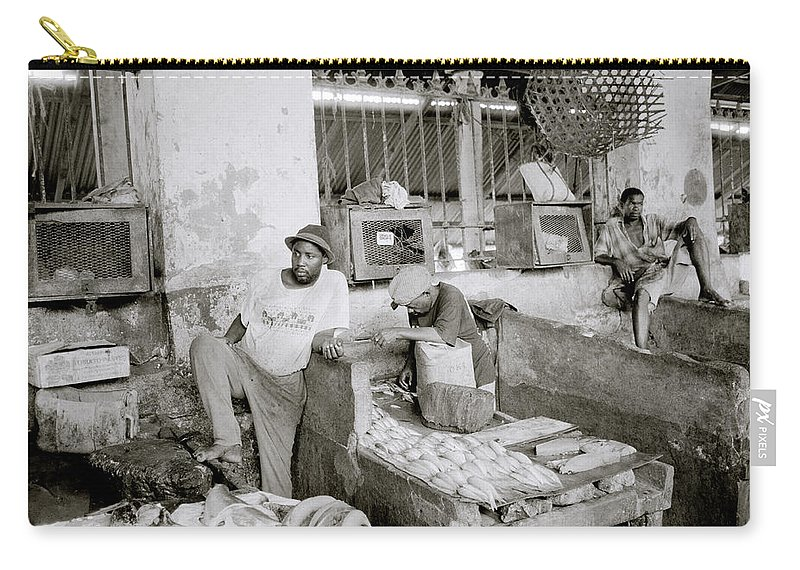 Market Carry-all Pouch featuring the photograph Stonetown Market by Shaun Higson