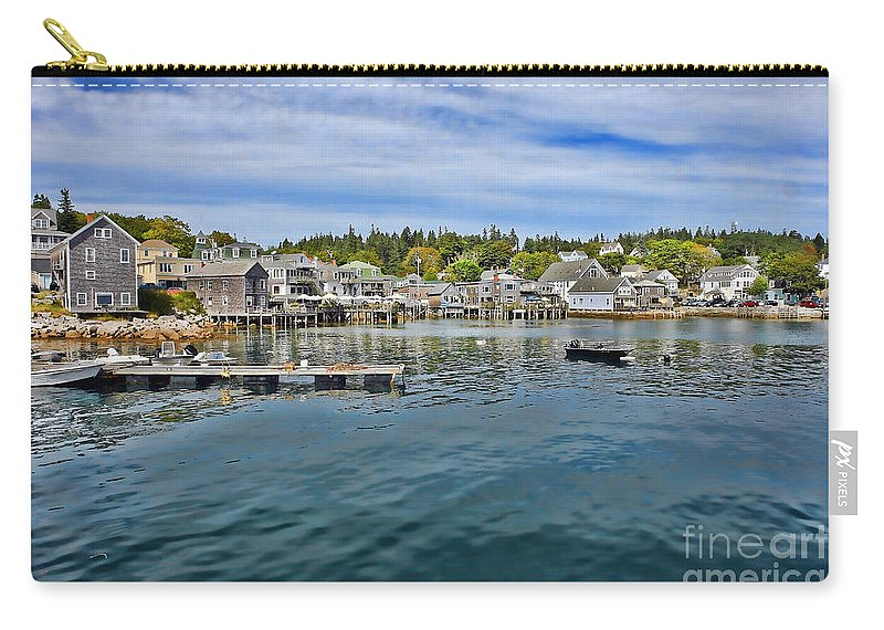 Maine Carry-all Pouch featuring the photograph Stonington In Maine by Olivier Le Queinec