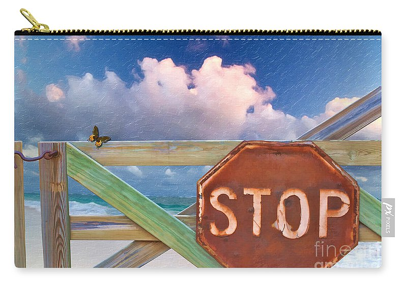 Stop Carry-all Pouch featuring the photograph Stop by Liane Wright