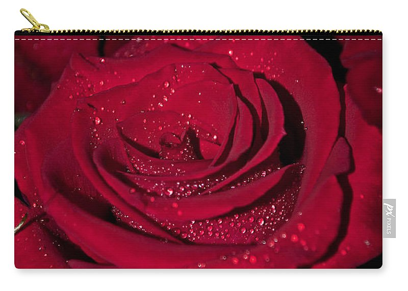 Romantic Carry-all Pouch featuring the photograph Stop To Smell The Roses by Tikvah's Hope